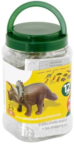Dinosaurios 12 ud. detalle de la caja