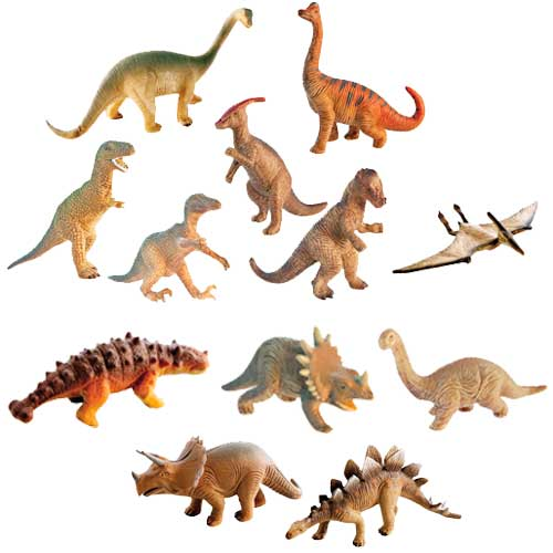 Dinosaurios 12 ud.