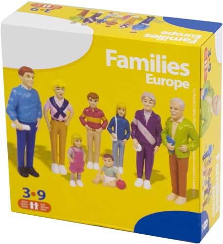 Familia europea 8 figuras detalle de la caja