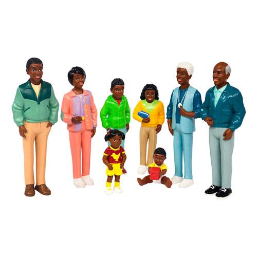 Familia africana 8 figuras detalle 2