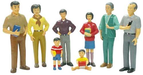 Familia asiática 8 figuras