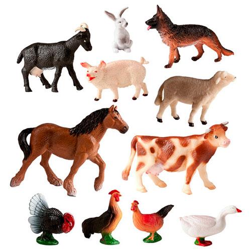 Animales granja 11 ud. detalle 2