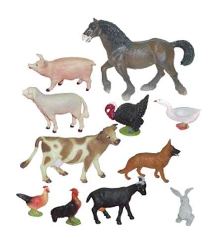 Animales granja 11 ud.
