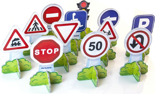 Minimobil Traffic Signs / Europa