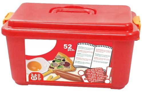 Surtido comida rápida detalle de la caja