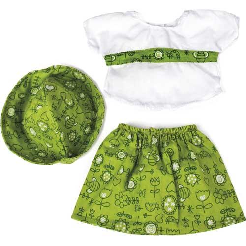 Conjunto falda verde 40 cm