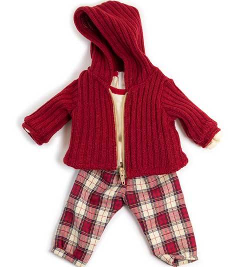 Conjunto invierno rojo 40 cm