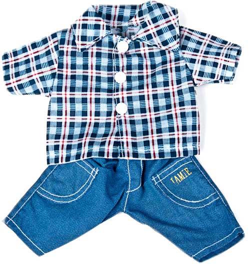 Conjunto vaquero y camisa 32 cm