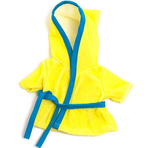 Albornoz de baño amarillo 21 cm