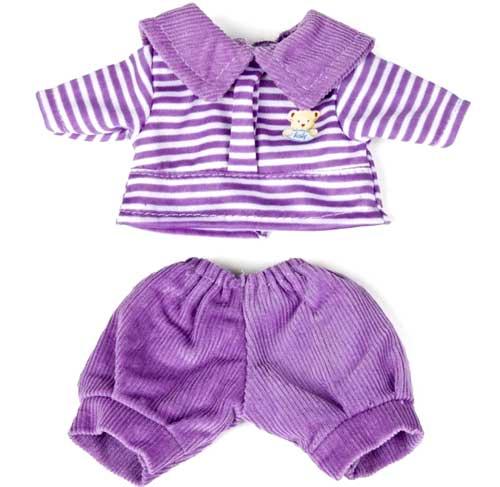 Conjunto polo y pantalón violeta