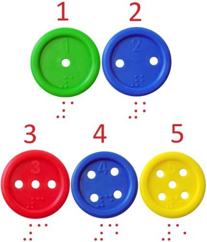 Botones ensartables, bote 140 ud detalle 2