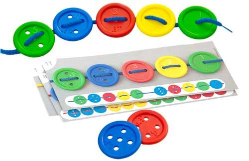 Botones ensartables, caja 40 ud