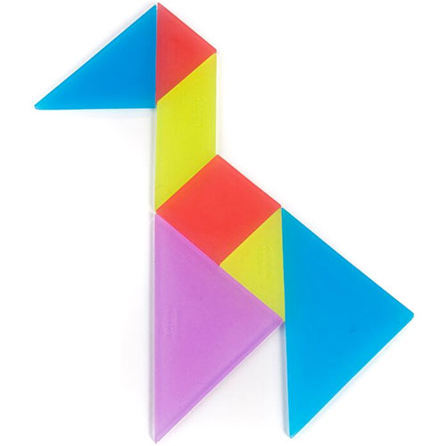 Tangrams traslúcido (4 ud)  detalle 1
