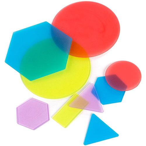 Formas geométricas traslúcidas 40 piezas detalle 1