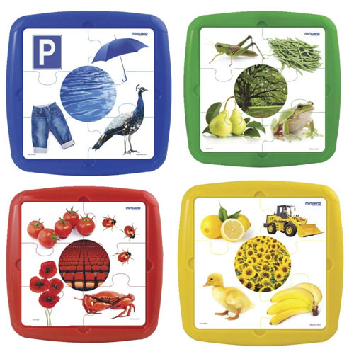 Puzzles Colores  4 ud