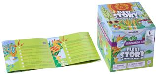 Detalle folleto y caja El patito Feo