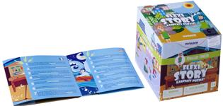 Detalle folleto y caja Pinocho