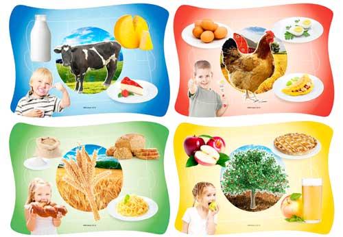Frame Puzzle Nutrición 4 ud de 6 pz