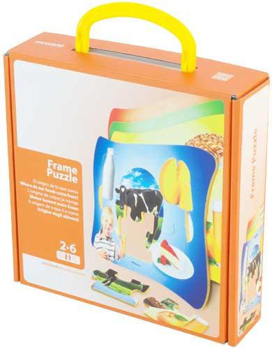 Frame Puzzle Nutrición 4 ud de 6 pz detalle de la caja
