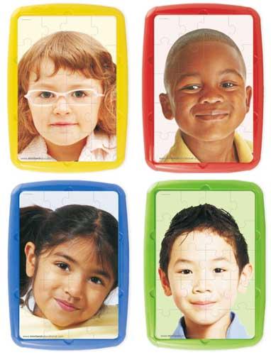 Puzzles Niños del Mundo 20 pz 4 ud