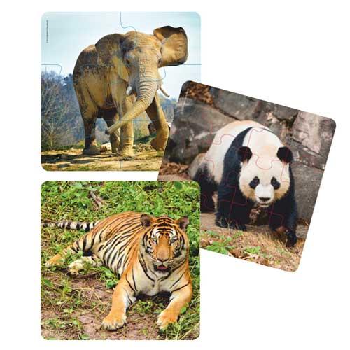 Puzzles Progresivos Animales 3 ud