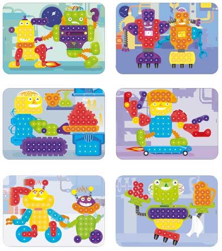 Mosaico 15 mm Robots