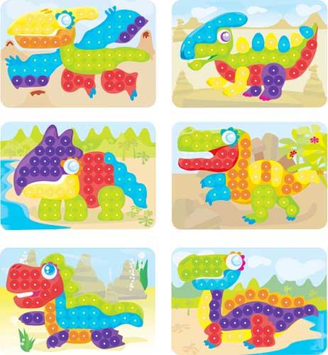 Mosaico 20 mm Dinos detalle