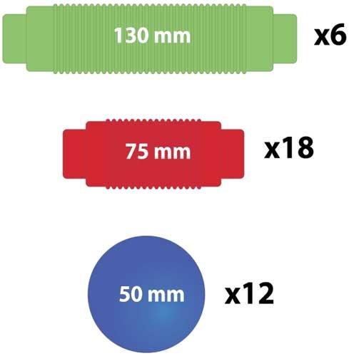 Magnetic detalle de las medidas de las piezas