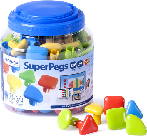 Superpegs  bote 128 piezas