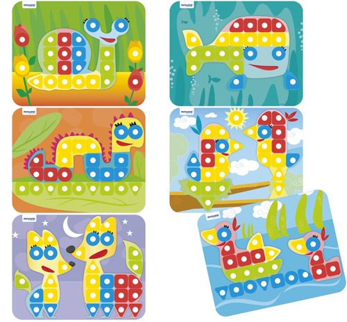 Superpegs Pack de 6 modelos animales
