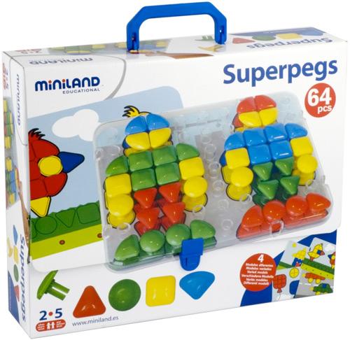Superpegs Maletín 64 pinchos + modelos + placa