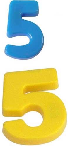 Números magnéticos detalle