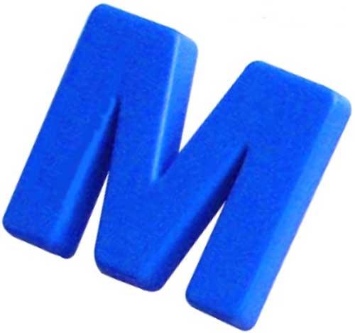 Letras magnéticas mayúsculas grandes 44mm detalle