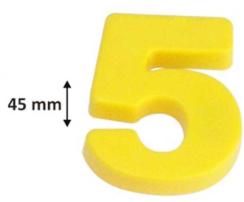 Números magnéticos grandes detalle de la medida