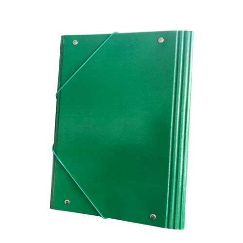 Carpeta 1/4 solapas cartón color brillo detalle 2