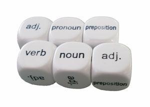 Dados adjetivo-verbo-nombre - pronombre - preposición