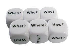 Dados interrogación en inglés