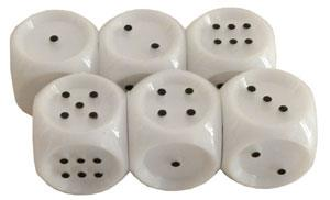 Dados braille puntos 1 al 6 20mm 6 ud