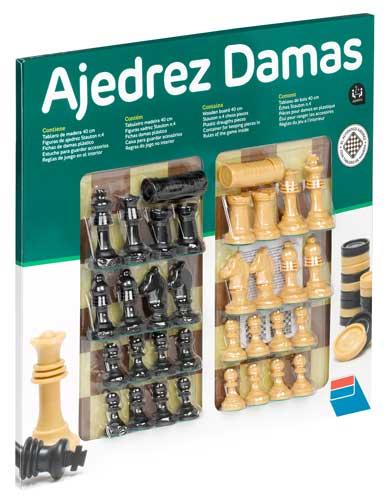 Ajedrez-Damas con accesorios detalle de la caja