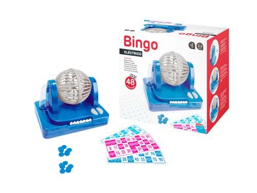 Bingo eléctrico bombo giratorio 90 bolas