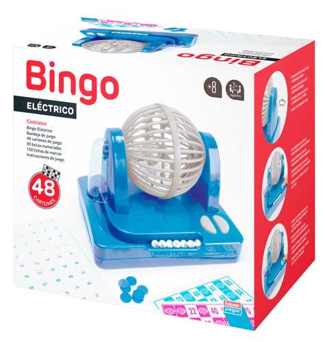 Bingo eléctrico bombo giratorio 90 bolas detalle 1