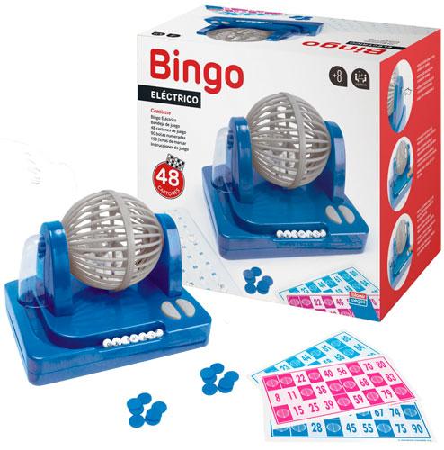 Bingo eléctrico bombo giratorio 90 bolas detalle 2