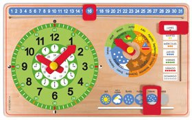 Reloj calendario castellano