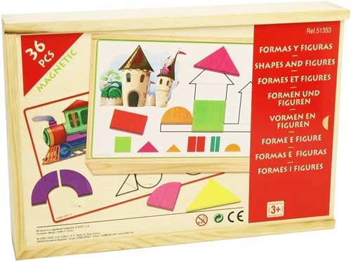 Formas y figuras detalle de la caja