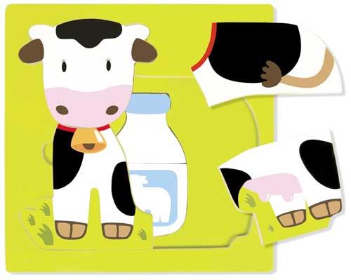 Puzzle 3 niveles vaca