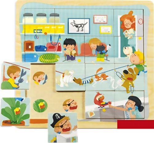 Puzzle veterinario 16 piezas