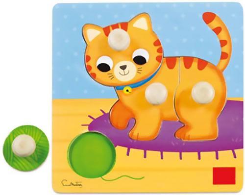 Encajable-puzzle Gato 4 piezas