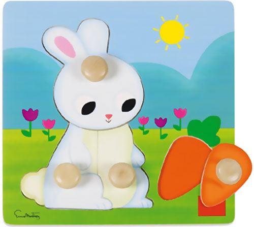 Encajable-puzzle Conejo 4 piezas