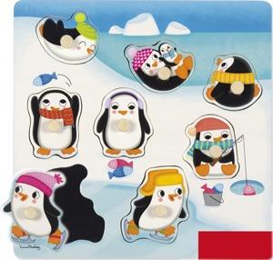 Encajable posiciones pingüinos 8 piezas