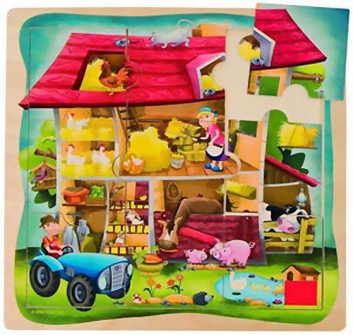 Puzzle granja 9 piezas